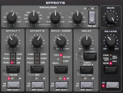 The Electro 4 Effect section (all models)