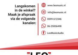 Winkelen op afspraak bij Leo Music