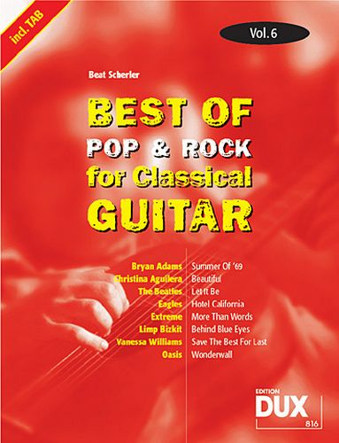 Dux Best of Pop & Rock for Classical Guitar Vol.6