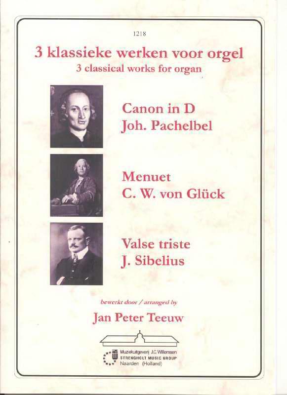 3 klassieke werken voor orgel