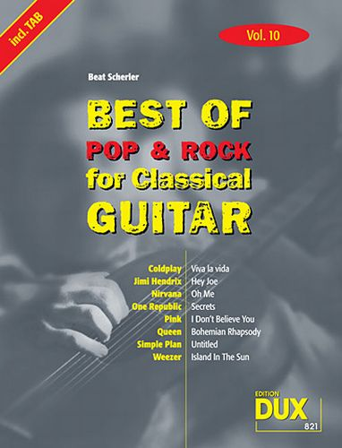 Dux Best of Pop & Rock for Classical Guitar Vol.10
