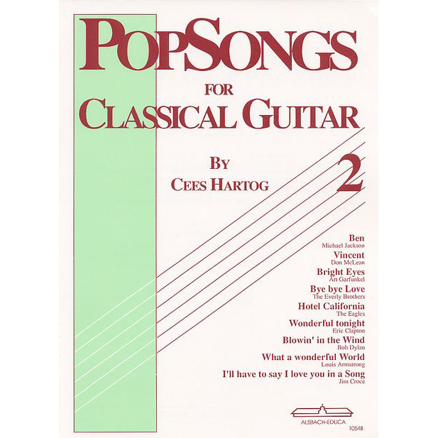 Popsongs for Classical Guitar 2 Cees Hartog