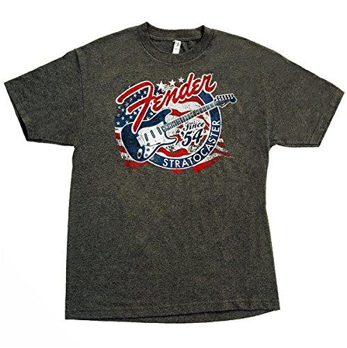 Fender T-shirt 'Strat Patriotic' - Grijs L