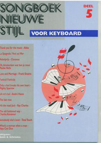 Songboek nieuwe stijl voor keyboard 5