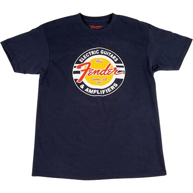 Fender T-shirt G&A classic circle logo - Donderblauw L