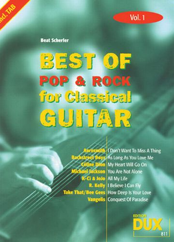 Dux Best of Pop & Rock for Classical Guitar Vol.1