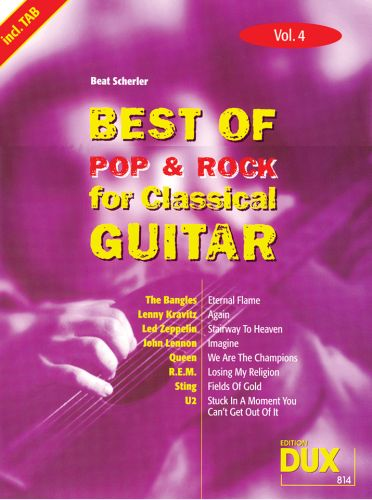 Dux Best of Pop & Rock for Classical Guitar Vol.4