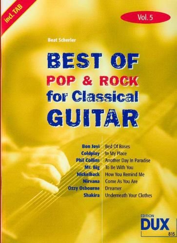 Dux Best of Pop & Rock for Classical Guitar Vol.5