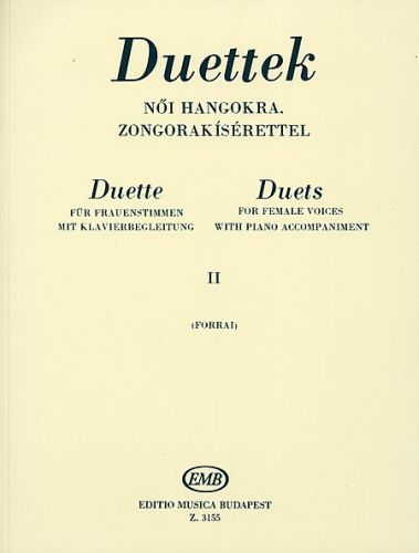 Duettek (Duets for Female Voices) volume 2