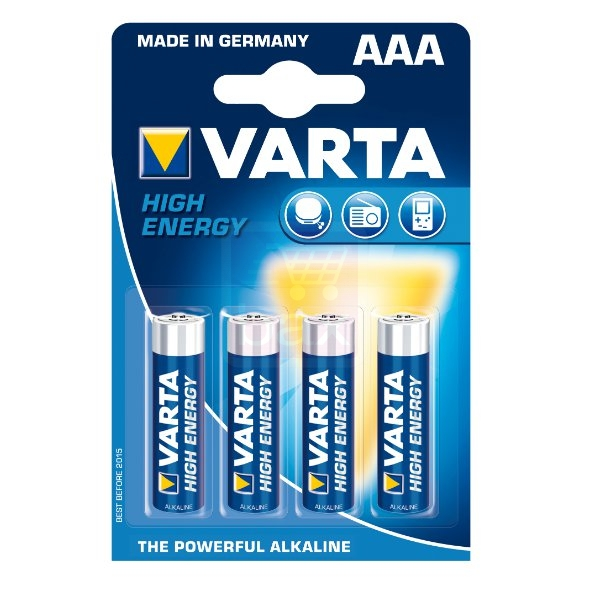 Varta High Energy Alkaline AAA penlite batterijen