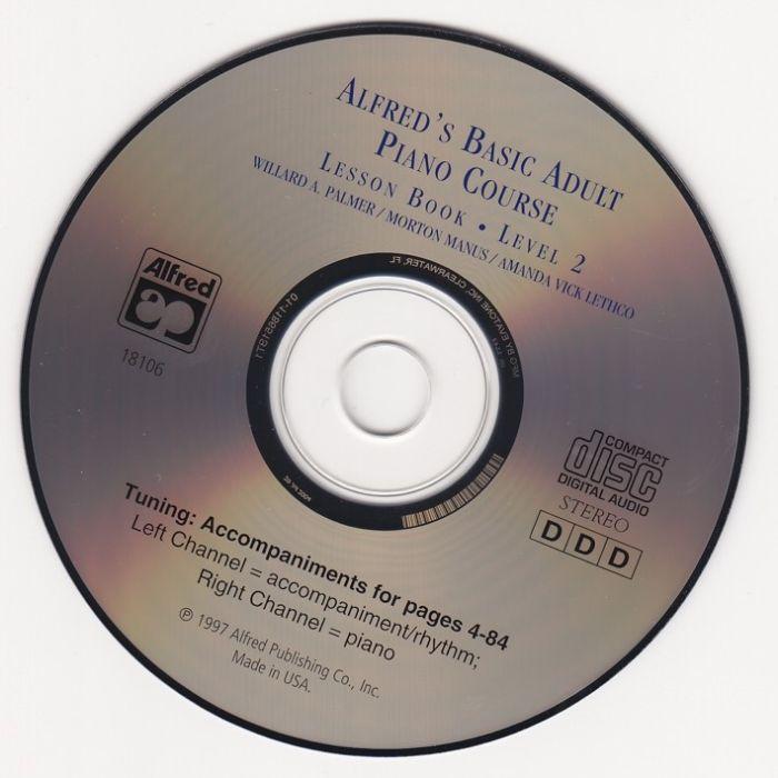 Alfred's Piano methode voor volwassen beginners CD bij lesboek Deel 2