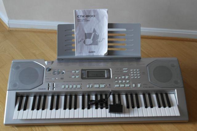 Casio CTK 800 Bladmuzieklesenaar