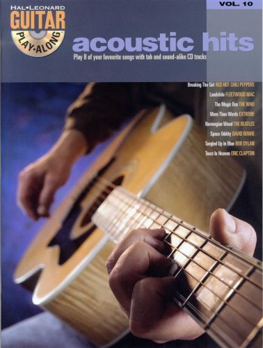 Hal Leonard Guitar play along vol. 10 acoustic hits +cd