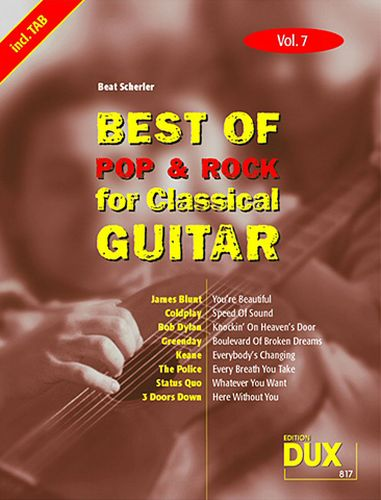 Dux Best of pop & rock for Classical Guitar Vol.7
