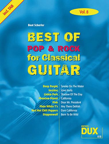 Dux Best of pop & rock for Classical Guitar Vol.8