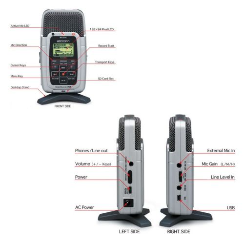 Zoom H-2 digital recorder