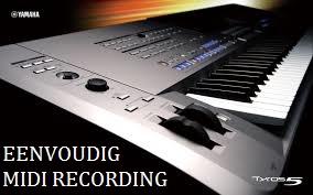 Uitleg over Midi-Recording op de Yamaha Tyros