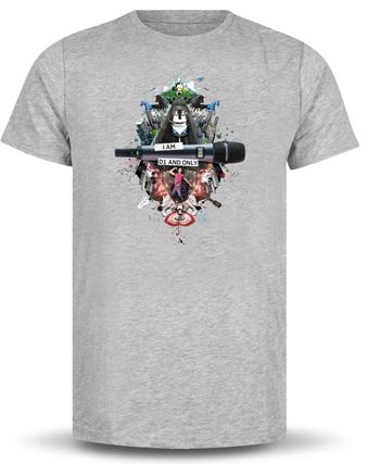 T-shirt Sennheiser D1 Grijs L